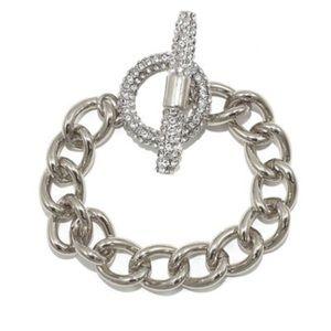 Savvy Cie Toggle Bracelet CZ NWT 👀